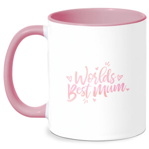 Worlds Best Mum Mug - White/Pink