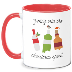 Getting Into The Christmas Spirit Mug - White/Red
