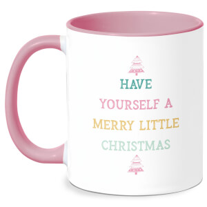Have Yourself A Merry Little Christmas Mug - White/Pink