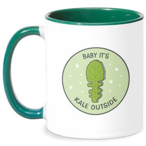 Baby It's Kale Outside Mug - White/Green