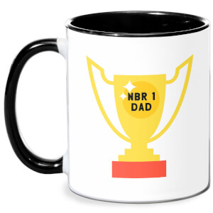 Nbr 1 Dad Cup Mug - White/Black