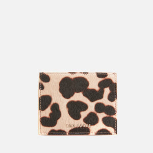 Ted Baker Women's Stormi Leopard Credit Card Holder - Taupe