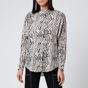 Isabel Marant Women's Cade Printed Shirt - Ecru/Black