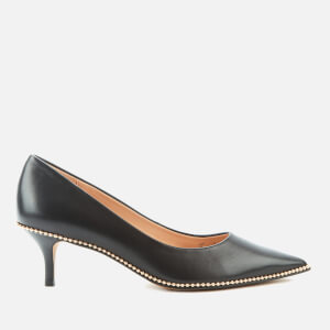 Coach Women's Jackie Leather Court Shoes - Black