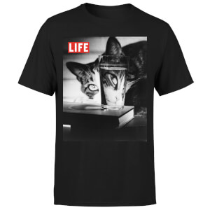 LIFE Magazine Cat Through The Glass Men's T-Shirt - Black