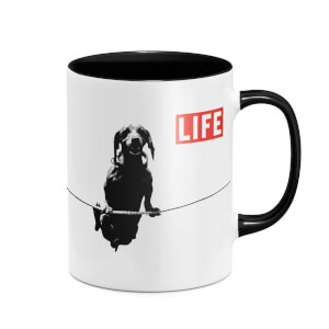 LIFE Magazine Sausage Dog Mug - Black