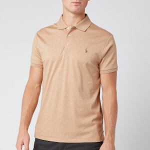 Polo Ralph Lauren Men's Slim Fit Pima Polo Shirt - Classic Camel Heather