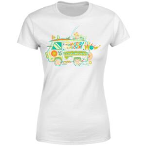 T-shirt The Mystery Machine - Blanc - Femme