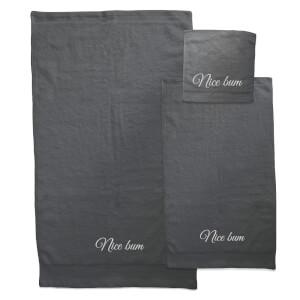Nice Bum Towel Bundle - Black