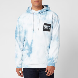 Superdry Men's Japan Tie Dye Hoodie - China Blue