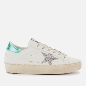 Golden Goose Deluxe Brand Women's Hi Star Leather Flatform Trainers - White/Silver/Aquamarine