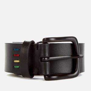 PS Paul Smith Men's Mini Zebra Leather Belt - Black