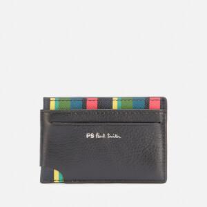 PS Paul Smith Men's Signature Stripe Credit Card Wallet - Black