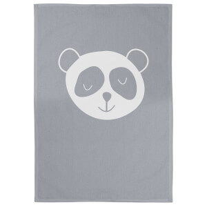 Panda Cotton Grey Tea Towel