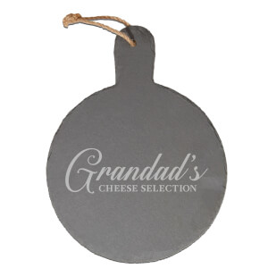 Grandad's Cheese Selection Engraved Slate Cheese Board