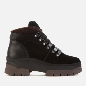 See By Chloé Women's Suede/Shearling Hiking Style Boots - Black