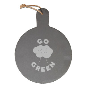 Go Green Engraved Slate Cheese Board
