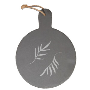 Leaves Engraved Slate Cheese Board