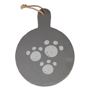 Paw Prints Engraved Slate Cheese Board
