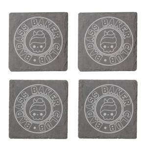 Badass Baker Club Engraved Slate Coaster Set