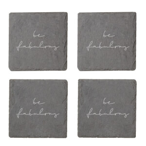 Be Fabulous Engraved Slate Coaster Set