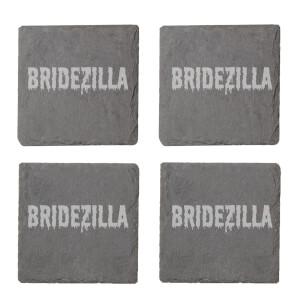 Bridezilla Engraved Slate Coaster Set