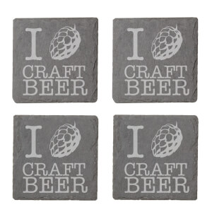 Craft Beer Engraved Slate Coaster Set
