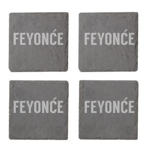 Feyon?e Engraved Slate Coaster Set