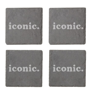 Iconic Engraved Slate Coaster Set