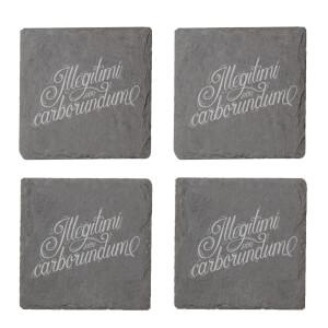 Illegitimi Non Carborundum Engraved Slate Coaster Set