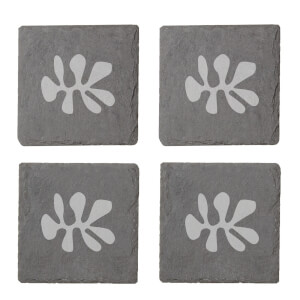 Shape Engraved Slate Coaster Set