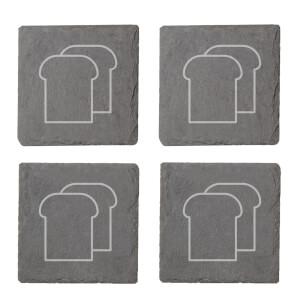 Toast Engraved Slate Coaster Set