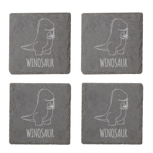 Winosaur Engraved Slate Coaster Set