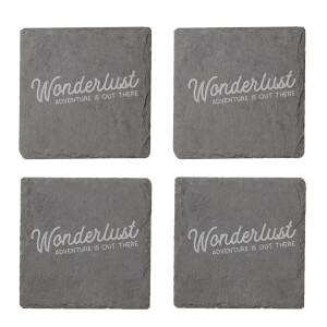 Wonderlust Engraved Slate Coaster Set