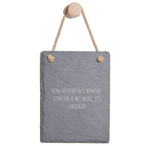 Being Positive In A Negative Situation Is Not Naive Engraved Slate Memo Board - Portrait