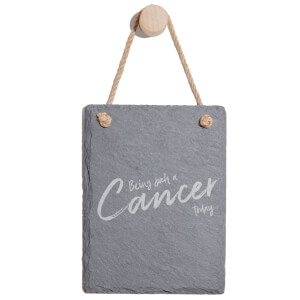 Being Such A Cancer Today Engraved Slate Memo Board - Portrait