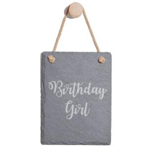 Birthday Girl Engraved Slate Memo Board - Portrait