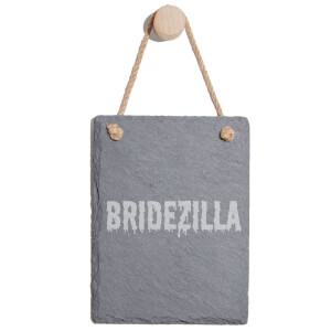 Bridezilla Engraved Slate Memo Board - Portrait