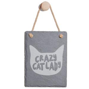 Crazy Cat Lady Engraved Slate Memo Board - Portrait