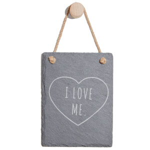 I Love Me Engraved Slate Memo Board - Portrait