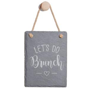 Let's Do Brunch Engraved Slate Memo Board - Portrait