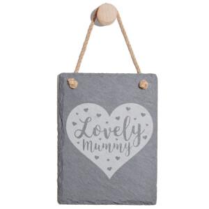 Lovely Mum Engraved Slate Memo Board - Portrait