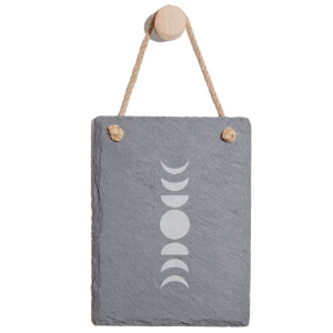 Moon Phases Engraved Slate Memo Board - Portrait