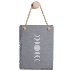 Moon Phases Engraved Slate Memo Board - Portrait