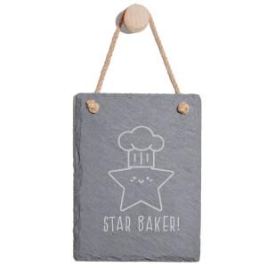 Star Baker! Engraved Slate Memo Board - Portrait