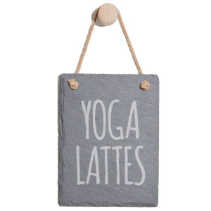 Yoga Lattes Engraved Slate Memo Board - Portrait