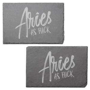 Aries As Fuck Engraved Slate Placemat - Set of 2