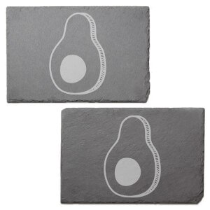 Avocado Engraved Slate Placemat - Set of 2