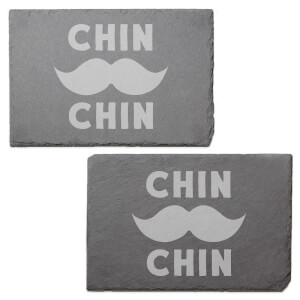 Chin Chin Engraved Slate Placemat - Set of 2