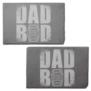 Dad Bod Engraved Slate Placemat - Set of 2